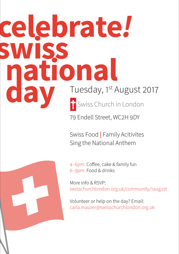 swiss national day in London