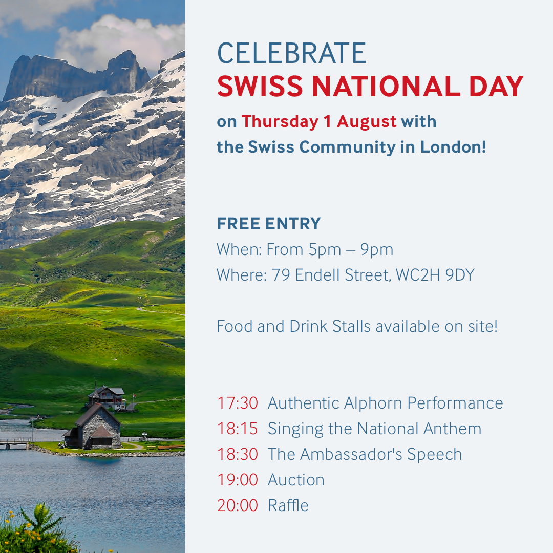 Swiss National Day London 1 August
