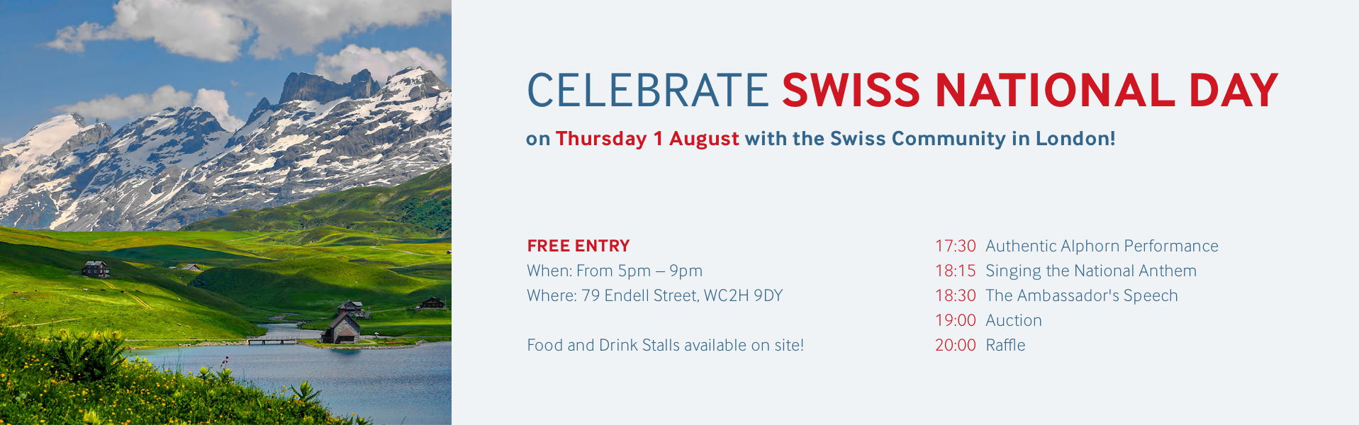 Swiss National Day 1 August Programme